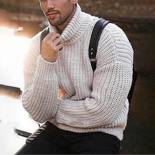 Strickwaren Pullover Pullovers Männer Herren Winter Rollkragenpullover