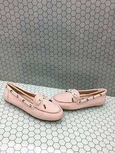 NIB-Vionic-HONOR-VIRGINIA-Pink-Leather-Slip-On-Moccasin-Loafers-Women-039-s-Size-9