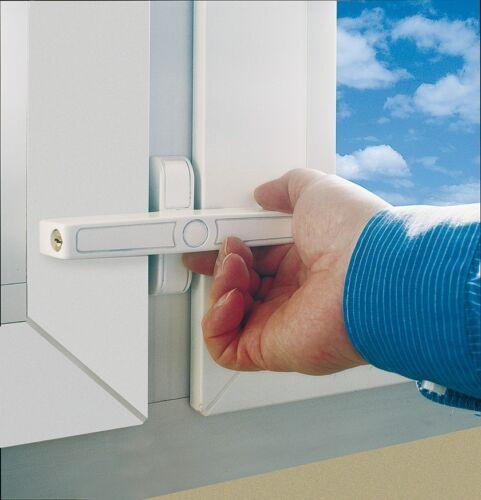 ABUS 2520 Fensterzusatzschloss Fenstersicherung für Doppelflügelfenster braun