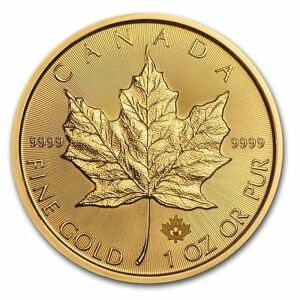 1 oz Canadian Gold Maple Leaf .9999 fine Gold Random Year 1 oz. RCM $50 Coin