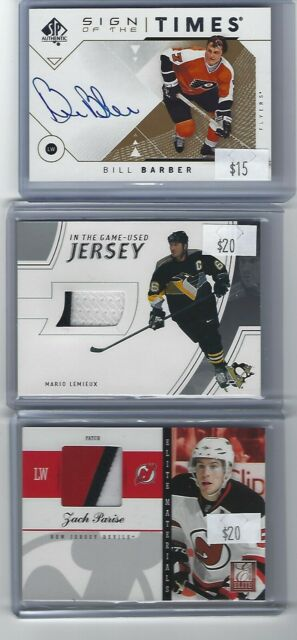 MARIO LEMIEUX 2002-03 ITG BAP IN THE GAME USED GAME USED JERSEY