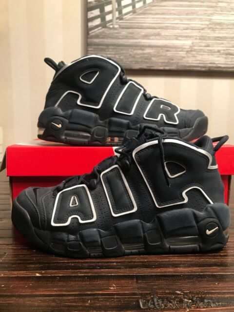 New 921948-400 NIKE AIR MORE UPTEMPO 96 OBSIDIAN NAVY BLUE-WHITE SZ 8