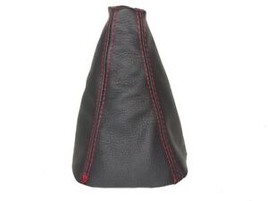 Gear-Stick-Gaiter-For-Hyundai-I10-2007-2014-Leather-Red-Stitching
