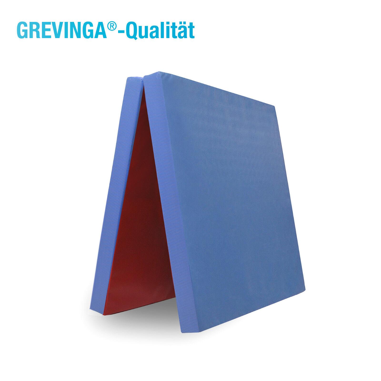 Grevinga® RESTPOSTEN klappbare Turnmatte ca. 200 x 100 x 8 cm in rot - RG 35