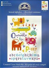 DMC FOR THE LITTLE ONES 2015 CROSS STITCH KITS BABY NAME SAMPLERS BEDTIME ANIMAL