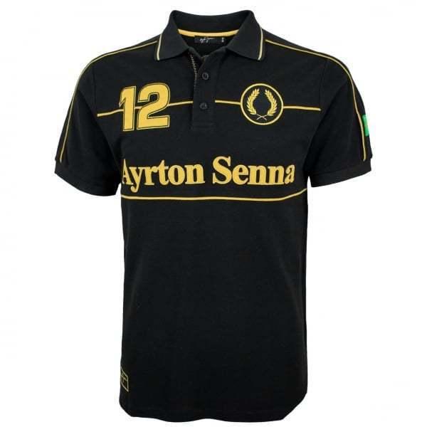 Ayrton senna team collection jps team senna lotus polo shirt F1 noir ddf272