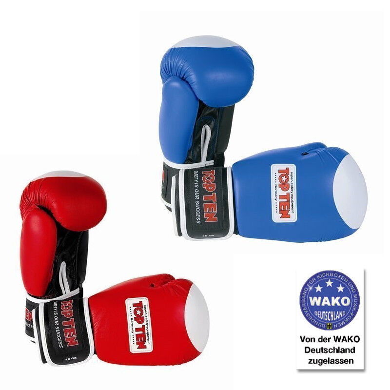 TOP TEN Boxhandschuhe  Competition  im Aiba - Design mit ohne WAKO Labels