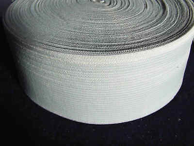 3 Metres 48 mm White Corded Elastic Tape Ribbon Sewing Trousers /Skirt Fastener