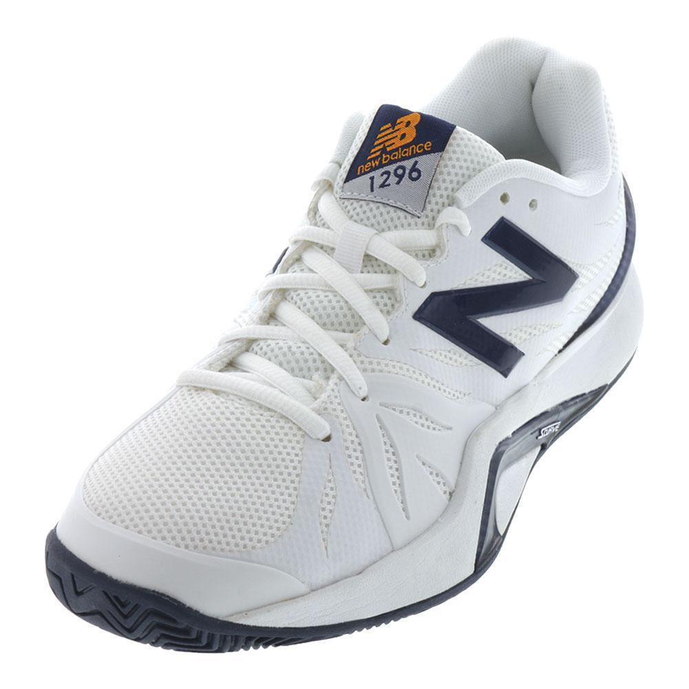 NEW BALANCE - Men`s 1296v2 D Width Tennis shoes White and bluee - (MC1296W2D-S19)