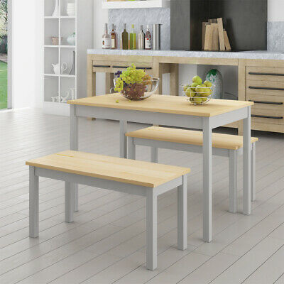 Uk Solid Pine Wooden Dining Set Table