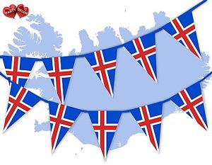 Iceland-Full-Flag-Patriotic-Themed-Bunting-Banner-15-Triangle-flags-National