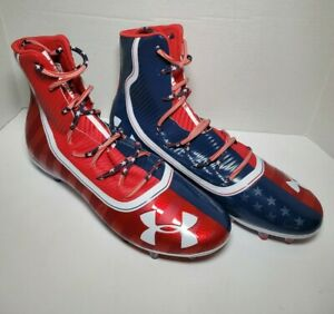 Under Armour Highlight Cleats USA Land Of The Free Size 13 Stars And Stripes! A8