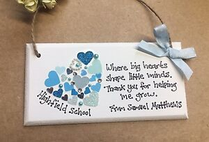 Image Is Loading Personalised Teacher Gift Present Thank You Nursery