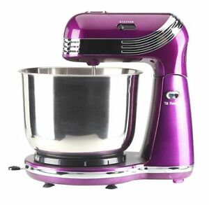 Compact-Mixer-Electric-Hand-Cake-Bowl-Purple-Stainless-Steel-Attachments-EGL-NEW