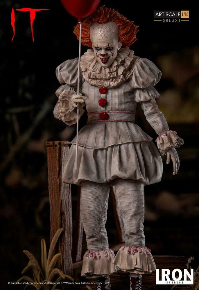 STEPHEN KING  IT – PENNYWISE DELUXE EDITION BDS ART 1 10 STATUE IRON STUDIOS