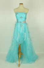 NWT Blue Jovani Size 4 High Low Prom Formal Polyester Solid Gown $550 Ball Prom