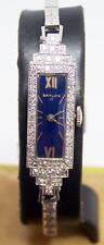 Vintage 1920's Platinum Ladies BAYLOR Watch with Diamonds & 14k White Bracelet