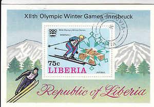 Liberia XII Olympic Winter Games Innsbruck, Souvenir Sheet - WW 7323