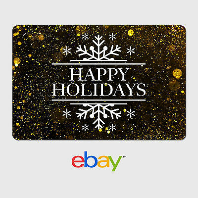 eBay Digital Gift Card - Happy Holidays Gold - Email Delivery