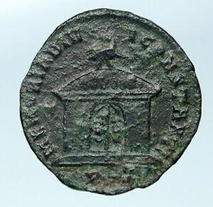DIVUS-CONSTANTIUS-I-CHLORUS-Authentic-Ancient-307AD-Roman-Coin-TEMPLE-i83721