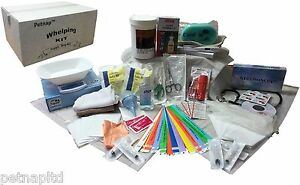 DEFINITIVE-Whelping-Kit-dog-welping-box-puppy-ID-bands-DIGITAL-SCALES-Iodine