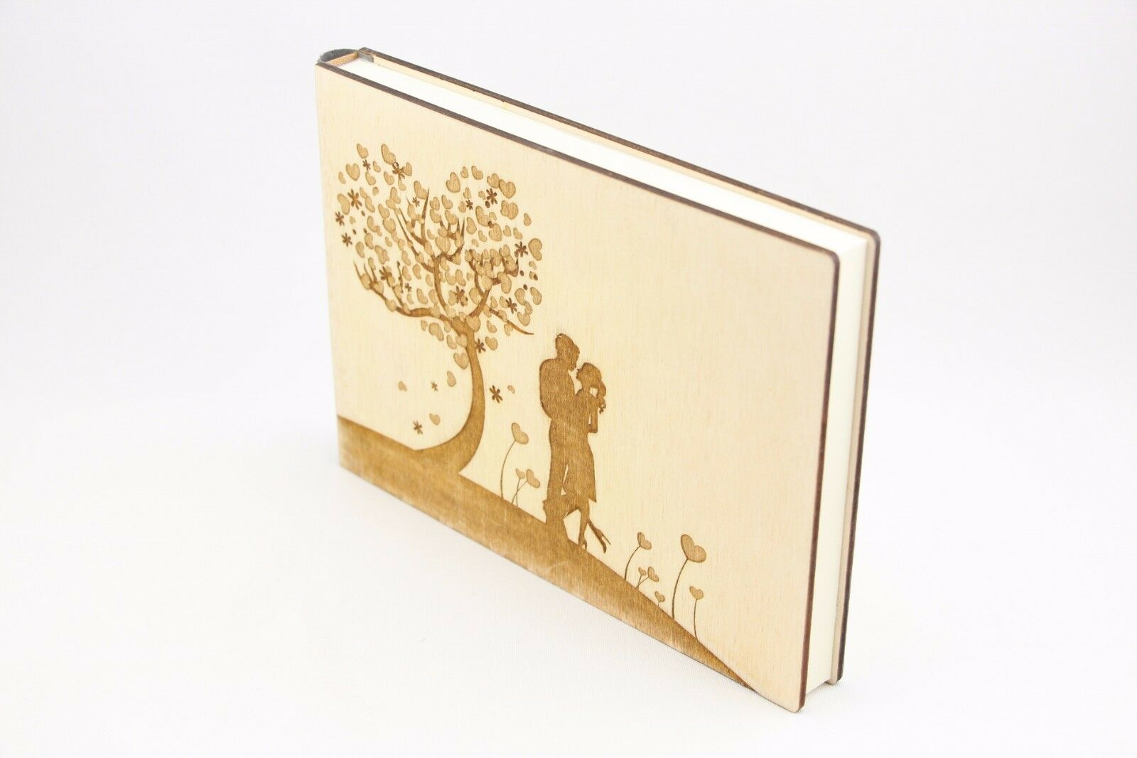 Hochzeitsbaum, bois album photo, Mariage, Coeur album photo, arbre de l'amour