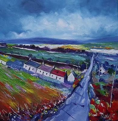 LIGHT ON ROAD TO IONA :  HEBRIDEAN COLOURIST  OIL PAINTING : NATALIE SOUTER
