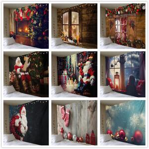 Weihnachten Wandteppich Wandbehang Weihnachtsmann Weihnachtsbaum Zimmer Home Dec