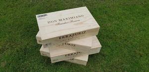 éNergique 3 X En Bois Traditionnelles Chilien Vin Coffret Caisse De Stockage/don Maximiano Errazuriz-afficher Le Titre D'origine DernièRe Technologie