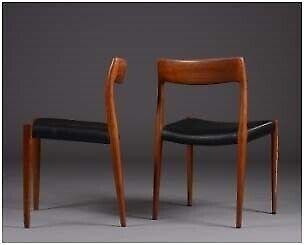Spisebordsstol, Teaktræ, N.O.Møller Model 77
