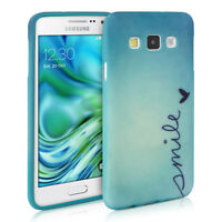 kwmobile Tpu Schutz Hülle für Samsung Galaxy A3 (2015) Smile Blau Cover Handy