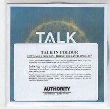 (EJ79) Talk In Colour, Rocking Horse - DJ CD
