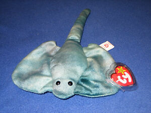 2cc37fa4ac9 TY STING the STINGRAY BEANIE BABY - MINT with MINT TAGS 8421040773 ...