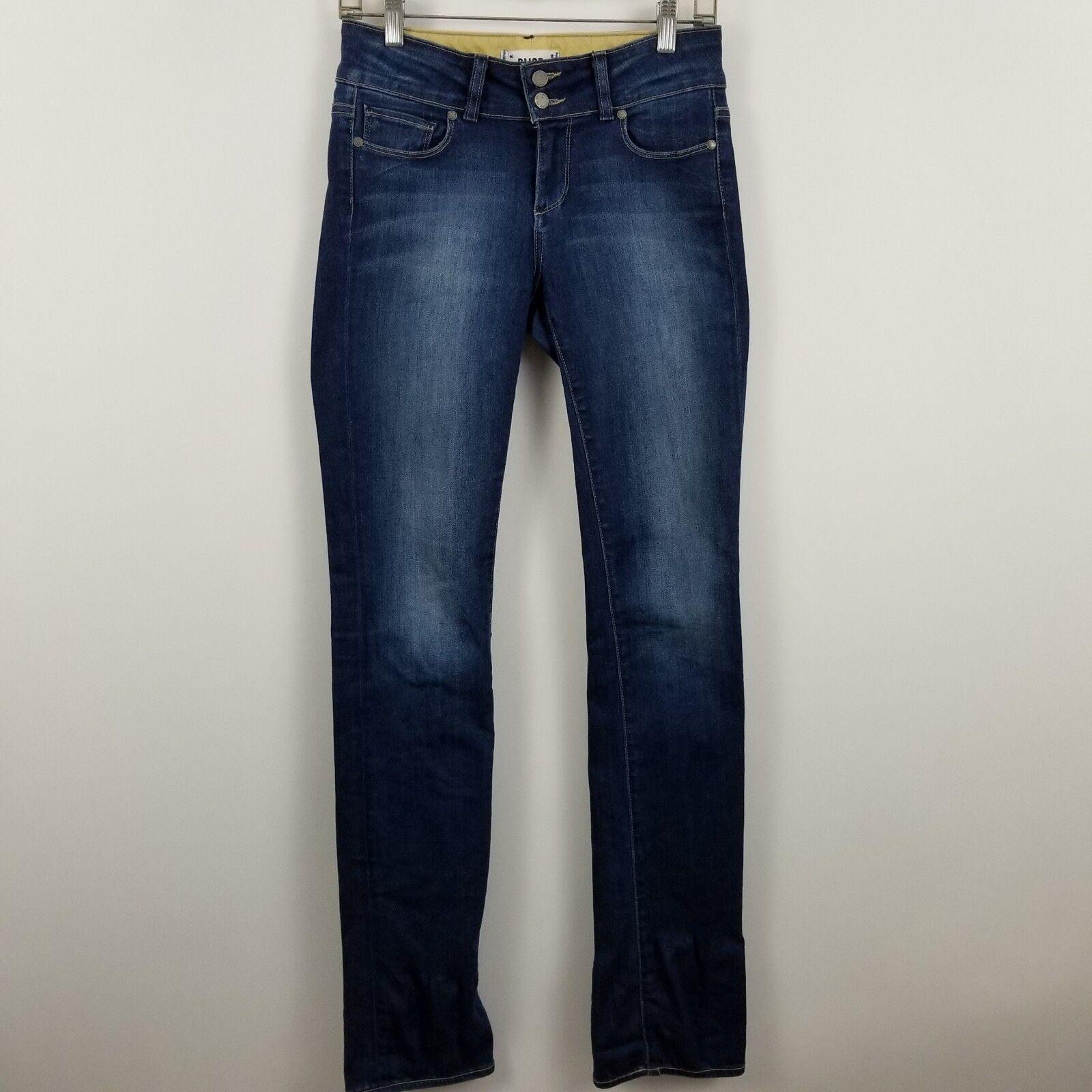 Paige Hidden Hills Straight Women's Dark Wash bluee Jeans Size 26
