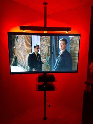 Boden-Decken Stange TV Halterung TV Stange Glasablage Glas Regal TV Säule