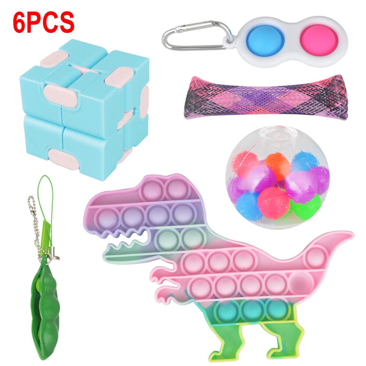 Bubble Popit Game Fidget Toys Set Popper Stress Relief Gifts Tools Bundle 5Pack