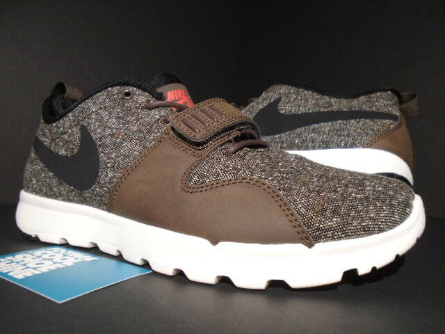 NIKE AIR TRAINERENDOR SB TRAINER 1 DUNK TWEED BROWN IVORY WHITE RED 616575-206 9