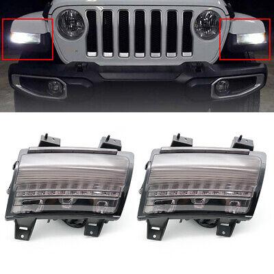 LED Turn Signal Parking Side Marker Light DRL For Jeep Wrangler JL 2018 2019