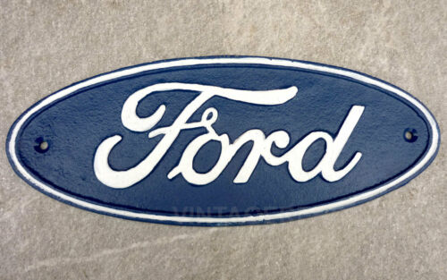 Ford Sign Cast Iron Garage Plaque Reproduction Large 29cm Retro