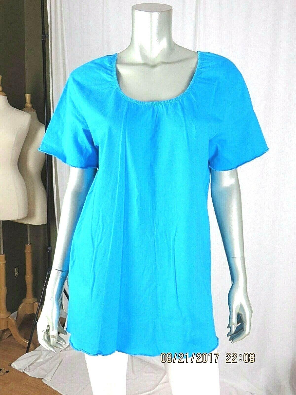 VENEZIA VITALE SZ L 100% Cotton Turquoise Blue Ru… - image 1