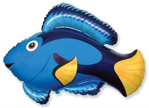 environ 66.04 cm Foil Balloon Blue Fish shaped 26 in