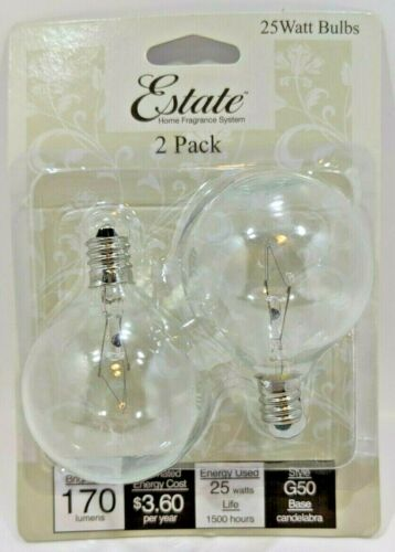 25w Clear Full Size Scented Wax Melt Warmer Replacement Bulb Scentsy Woodwick