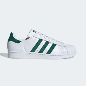 Détails sur Adidas EE4473 Superstar Chaussures De Course Blanc Vert Baskets afficher le titre d'origine