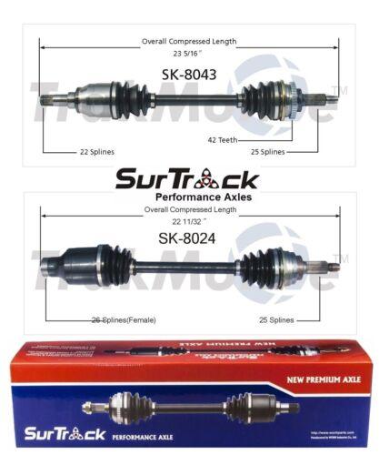 2 Front CV Axle Shafts SurTrack Set for Suzuki Aerio FWD 2002-2003 Aut0.Transm.