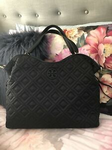 bd0da3bbf5d Image is loading TORY-BURCH-MARION-QUILTED-SLOUCHY-BLACK-BABY-DIAPER-