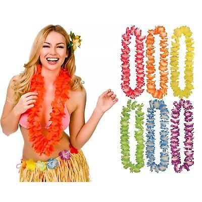 BULK BUY LOT HAWAIIAN LEI GARLAND NECKLACE FANCY DRESS SUMMER LUAU PARTY ALOHA.