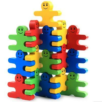 S Wooden Building Blocks Balance Game Toys Baby Kids Puzzle Early Educational