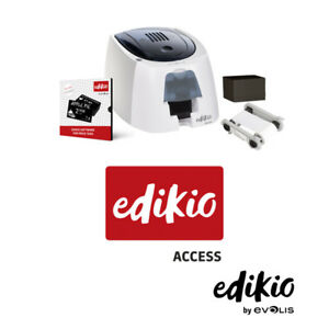 EVOLIS-Edikio-Access-Preisschilddrucker-Paket-Gold-Plastikkartendrucker-NEU