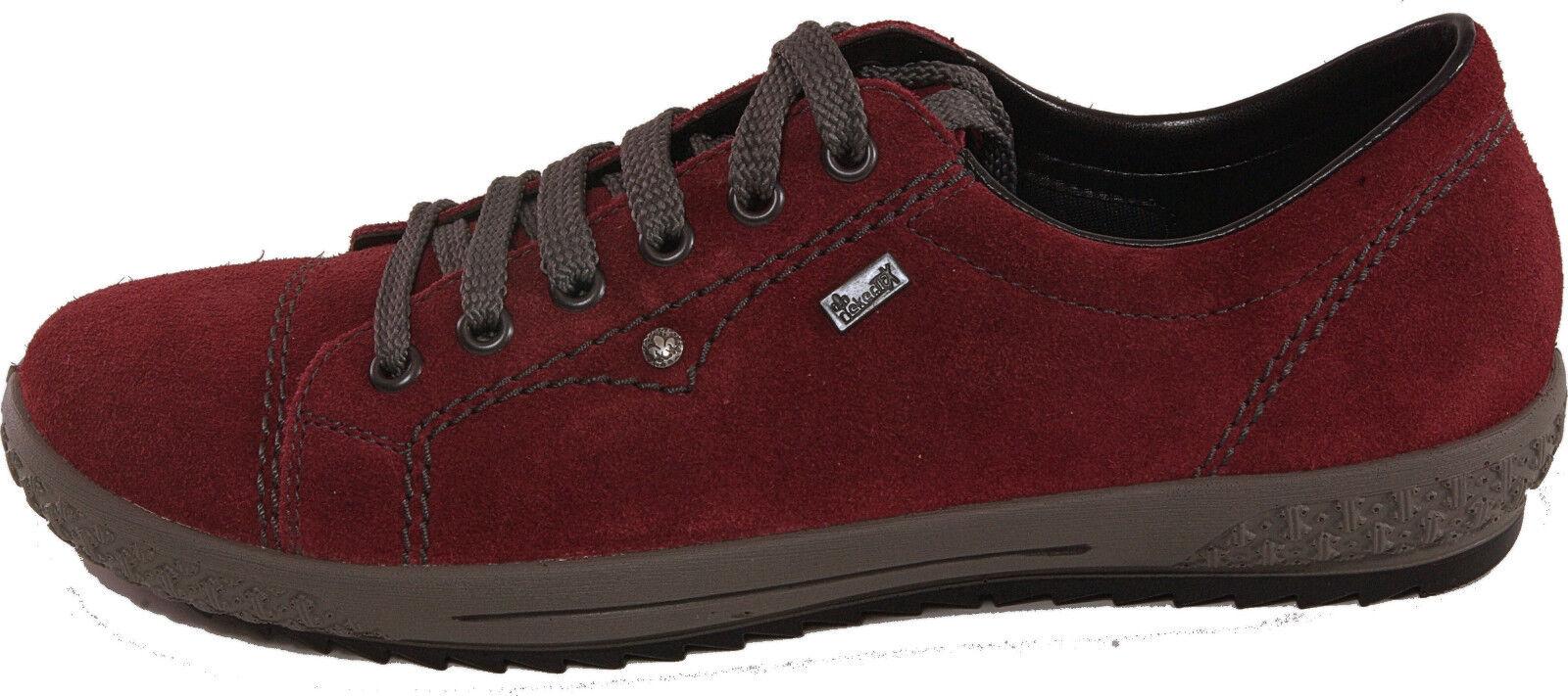 Rieker Scarpe Basse Sneaker normalissime echt NUOVO Leder Rosso Rieker TEX NUOVO echt 97b486
