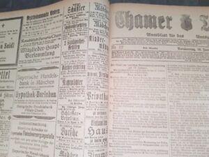 Cham-1919-Zeitung-kompletter-Jahrgang-Chamer-Tagblatt-Kurier-alt-Oberpfalz-bayer